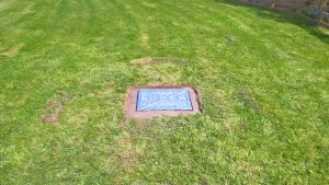 New manhole cover fitted to cesspit